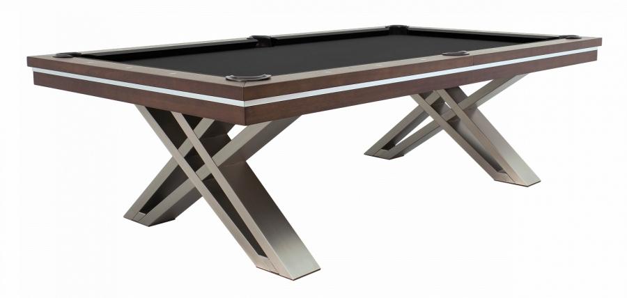 """Бильярдный стол для пула """"Pierce"""" 8 ф (натуральный орех) с плитой, со столешницей"""