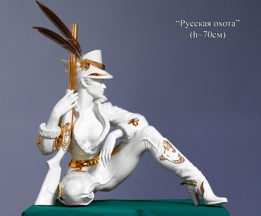 скульптура Русская охота