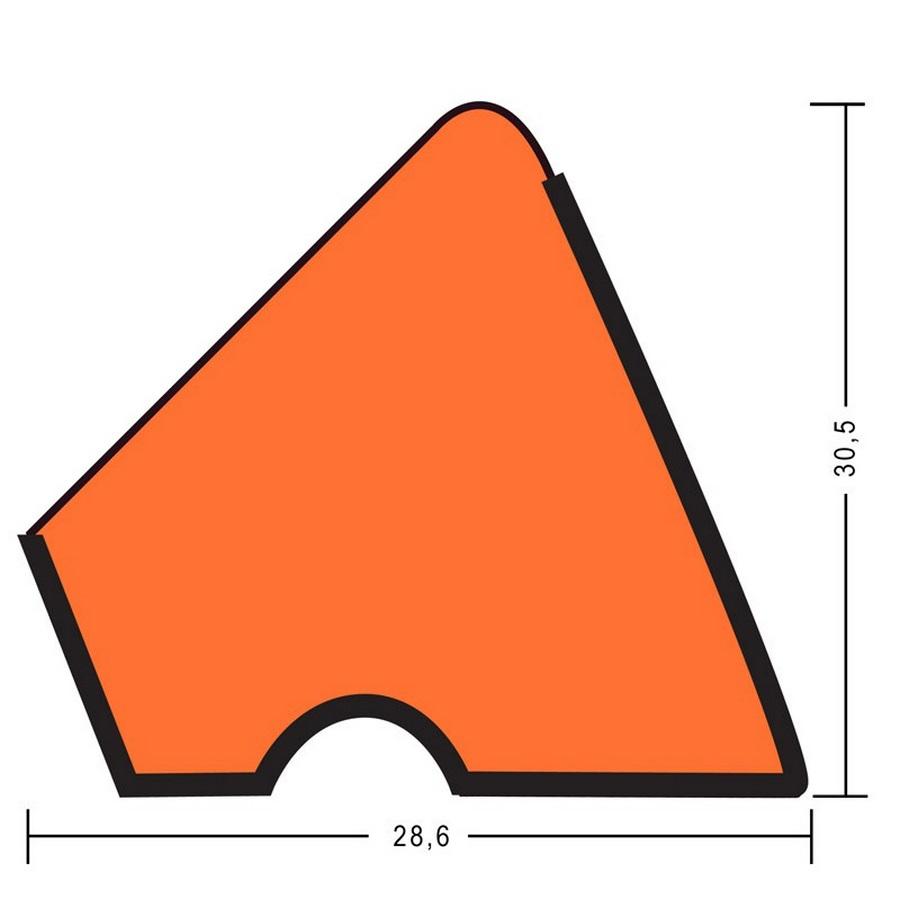 Комплект резины для бортов 182cm U118 12ft. (русская пирамида)