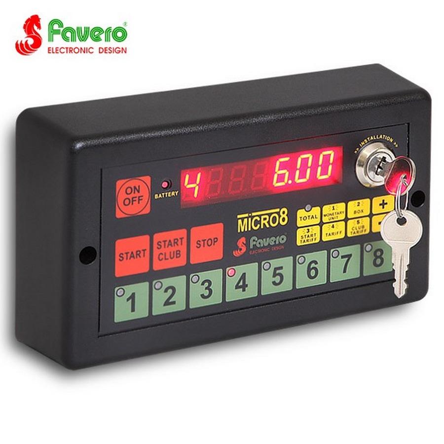 Cистема контроля игрового времени до 8 столов «FAVERO MICRO-8»